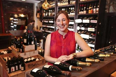 Kerri Platt, in her store, The Wine Bottega, hosted the pop-up wine bar at Panza.